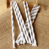 Silver Straws.  Ships in 1-3 Business Days.  Silver Paper Straws.  Striped Straws.  Party Straws 10CT.