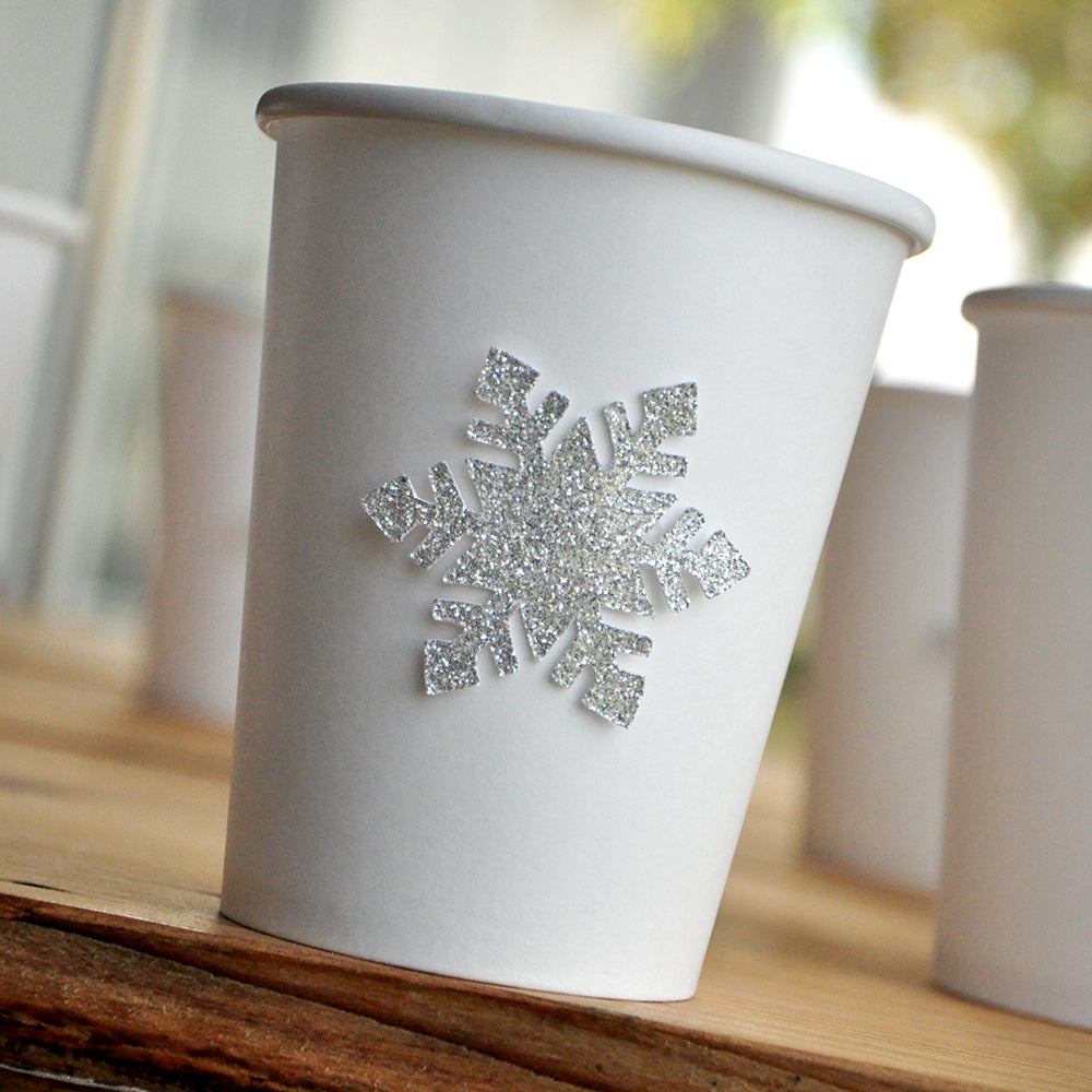 Silver Winter Onederland Party Supplies 10CT. Ships in 1-3 Business Days. Paper Party Cups. Snowflake Paper Cups. Cups for Hot Beverages.