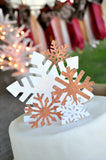Snowflake Cake Topper (5 Piece Set). Ships in 1-3 Business Days. Winter Party Decor. Winter Onederland.