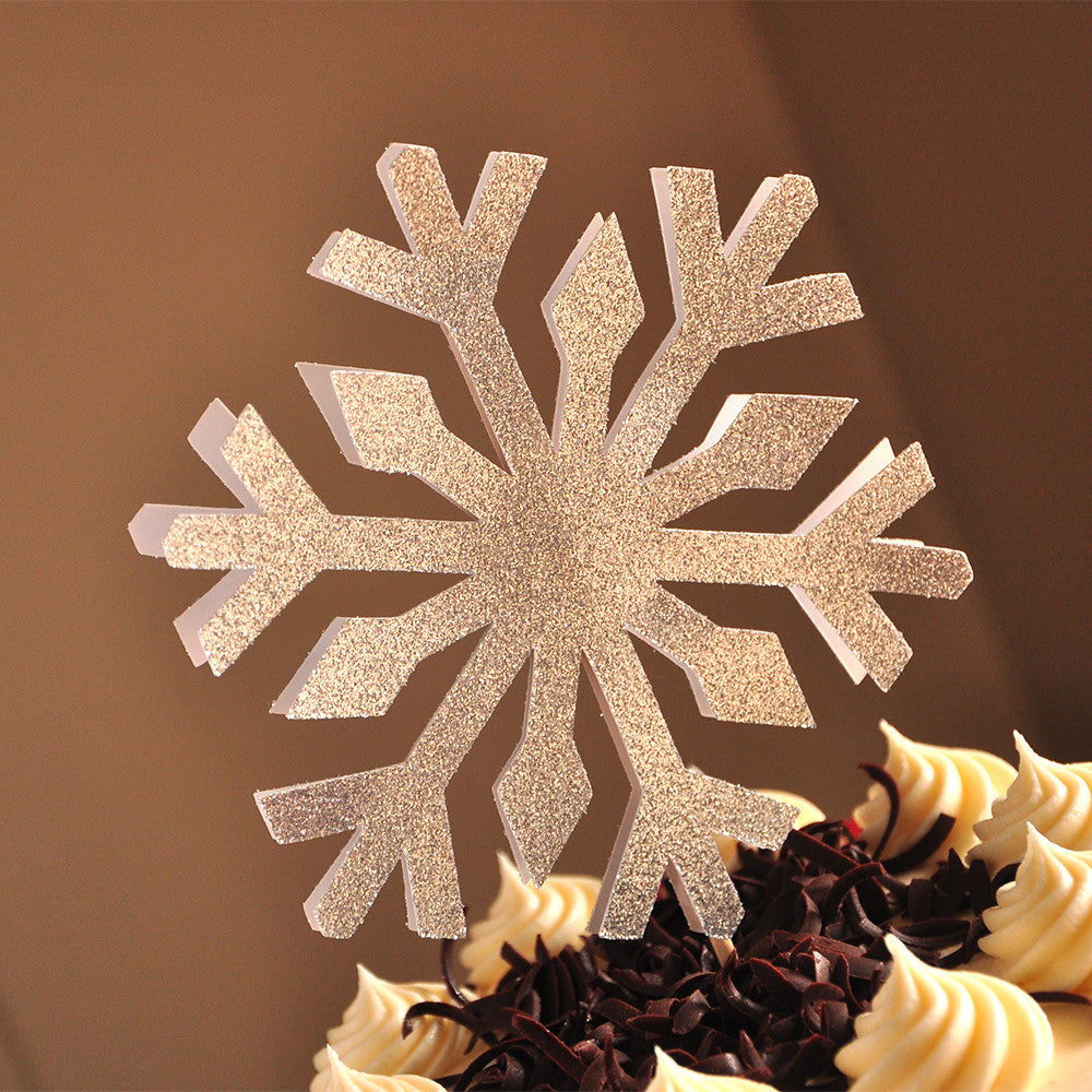 Snowflake Cake Topper.  Ships in 1-3 Business Days.  Frozen Birthday Party Decorations.