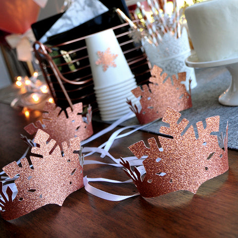Winter Onederland Party Favor Crown. Ships in 1-3 Business Days. Winter Party Favors. Winter Onederland Decorations.