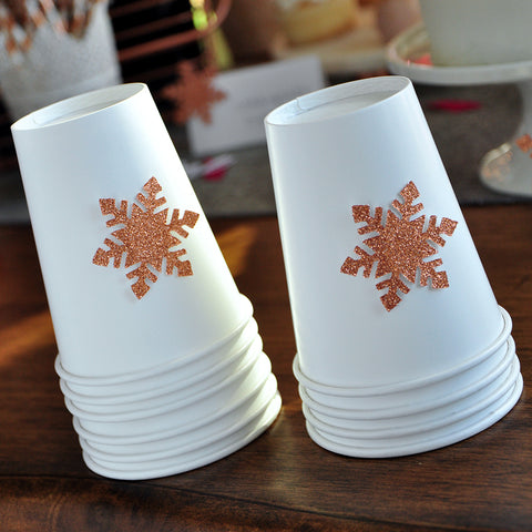 Winter Onederland Party Supplies 10CT. Ships in 1-3  Business Days. Paper Party Cups. Snowflake Paper Cups. Paper Cups for Hot Beverages.