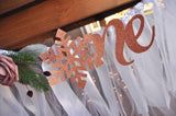 Winter Onederland Banner for Girl. Snowflake Highchair Banner. ONE High Chair Banner in Rose Gold. WOHCB.