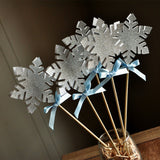 Frozen Birthday Party Decoration.  Ships in 1-3 Business Days.  Snowflake Wands.  Snowflake Centerpiece.