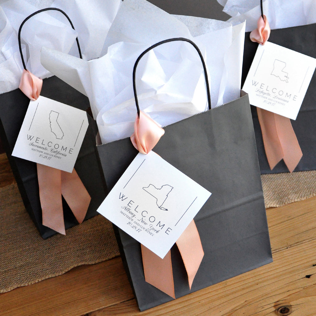 Custom Listing for Karen. 70 Charcoal Gift Bags. 70 Peach Ribbon. 70 Birch Tissue Paper. G8KFT.