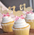 Baby Girl Shower Decorations.  Ships in 1-3 Business Days.  Stork Cupcake Toppers.  12CT.