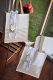 Bridesmaid Gift Idea (Qty. 1). Striped Tote Bag. Bridesmaid Tote Bag.