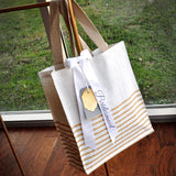 Bridesmaid Gift Idea (Qty. 1). Striped Tote Bag. Bridesmaid Tote Bag. SJ14.