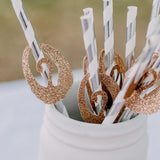 Swan Party Decor (Set of 10 Straws). Party Supplies for Girl. Handcrafted in 1-3 Business Days. Paper Straws Striped.