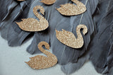 Swan Confetti. Swan Party Decorations. Made in 1-3 Business Days. Swan Lake Table Decor. Glitter Champagne Swan