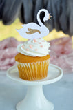 Swan Princess Cupcake Toppers. Made in 1-3 Business Days. Swan Lake Cupcake Toppers. Princess Birthday. (Set of 12 Toppers)