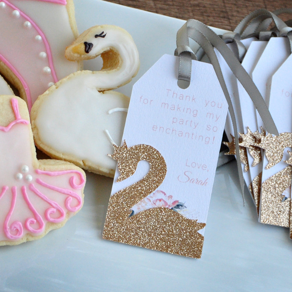 Swan Thank You Tags Handmade In 1 3 Business Days Swan Party