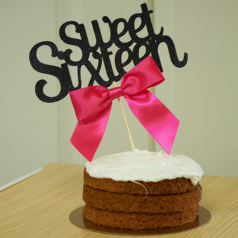 Sweet 16 Cake Topper.  Ships in 1-3 Business Days.  Sweet 16 Decoration.