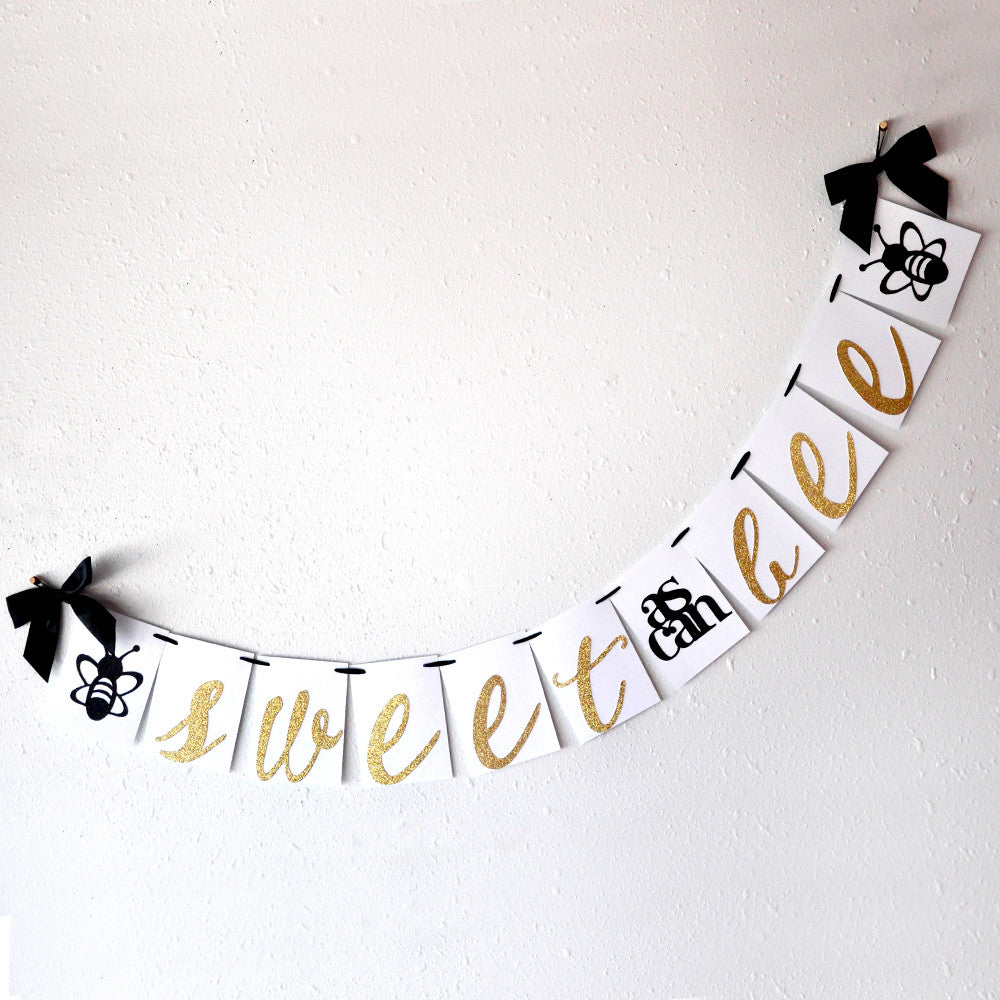 Sweet as Can Bee Banner.  Ships in 1-3 Business Days.  Mommy to Bee.  What Will it Bee.