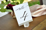 Table Number Signs. 1-10. Silver Wedding Table Numbers. Handmade in 1-3 Business Days. Calligraphy Table Numbers.