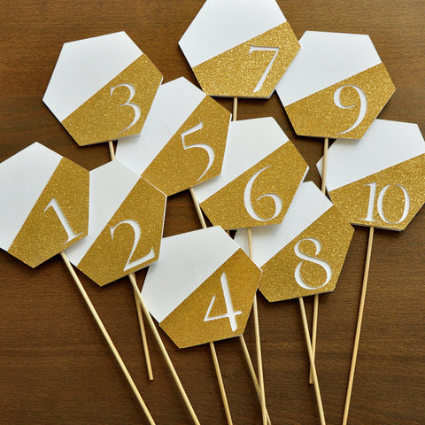 Table Number Stick. Geometric Table Decor. Handcrafted in 1-3 business days. Table Number Centerpieces 1-10.