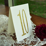 Table Number Tents. Gold Table Numbers 1-10. Hand Crafted in 1-3 Business Days. Table Number Ideas.