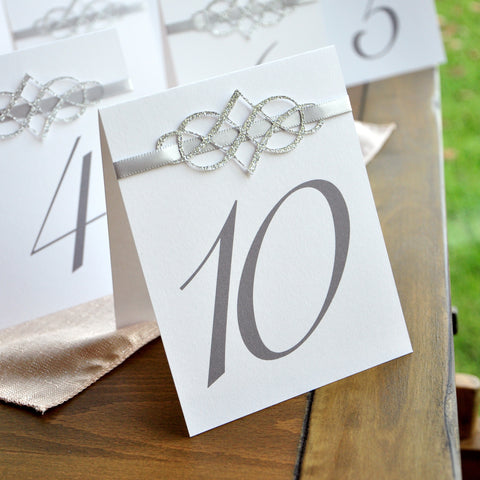 Table Numbers 1-10. Table Number Tents Silver. Handcrafted in 1-3 & Table Number Tents u2013 Confetti Momma