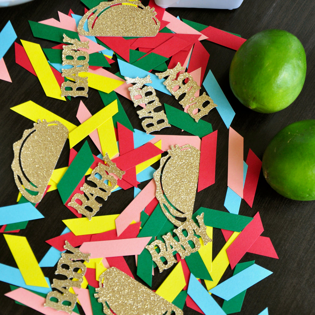 Taco Bout A Baby Shower Confetti. Taco Party Confetti. Fiesta Baby Shower. Mexico Party Decoration.