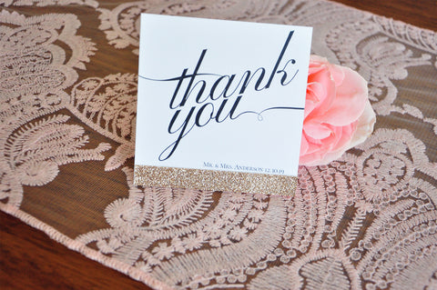 Thank You Cards Wedding Gift Bag Tags Crafted In 1 3 Business Days