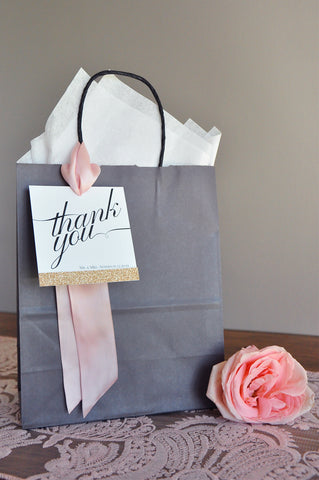 Thank You Bags Wedding Gift Bag Qty 1 Crafted In 1 3 Business