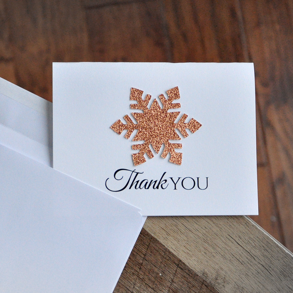 Winter Onederland Thank You Cards (Qty. 10). Made in 1-3 Business Days.  Pink and Gold Thank you Cards with Envelopes. Winter Thank You.