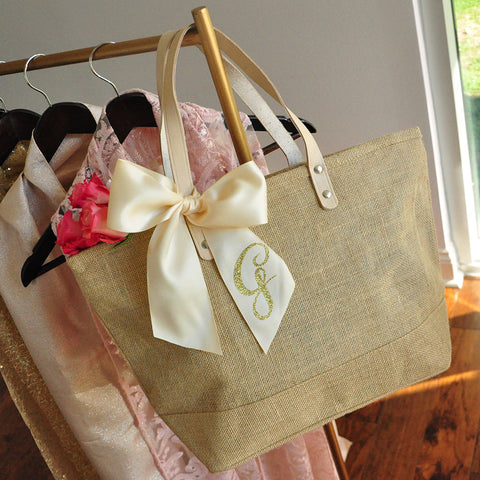 Tote Bag for Bridesmaid Gift. Quantity: 1.  Bridesmaid Tote.  Personalize Tote Bag.  Monogram Tote Bag with Zipper. ZB17.