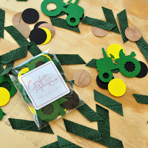 Tractor Confetti. Made in 1-3 Days. Tractor 1st Birthday Decorations. Tractor Party Supplies.