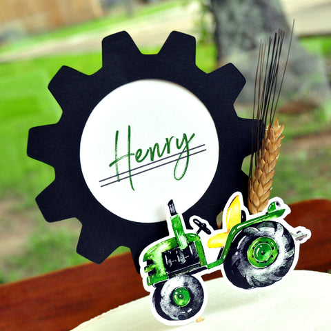 Tractor Cake Topper. Custom Birthday Cake Topper. Made in 1-3 Days. Tractor Birthday Decorations. Farm 1st Birthday.