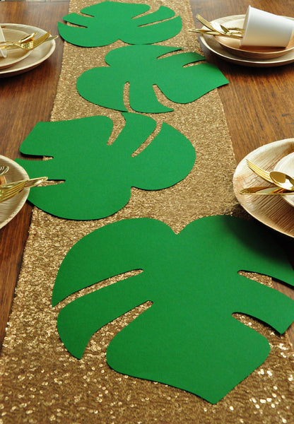 Tropical Leaf Decor Luau Birthday Party Charger Handmade