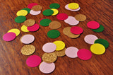 "Tropical Table Confetti 1"" Circles. Handcrafted in 1-3 Business Days. Summer Luau Confetti. 50CT."