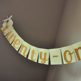 21st Birthday Decorarations. Ships in 1-3 Business Days. Glitter Gold Twenty One Banner. Twenty-One.