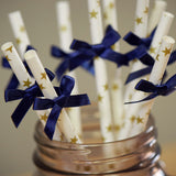 White & Gold Star Paper Party Straw.  Ships in 1-3 Business Days.  Twinkle Twinkle Little Star Paper Party Straws 10CT.