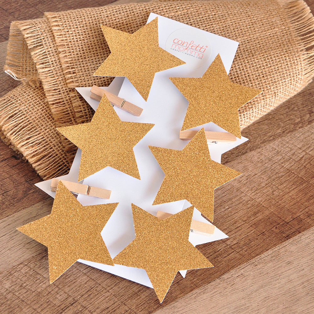 Twinkle Twinkle Little Star Baby Shower. Ships in 1-3 Business Days. Glitter Gold Star Clothespins 10CT.