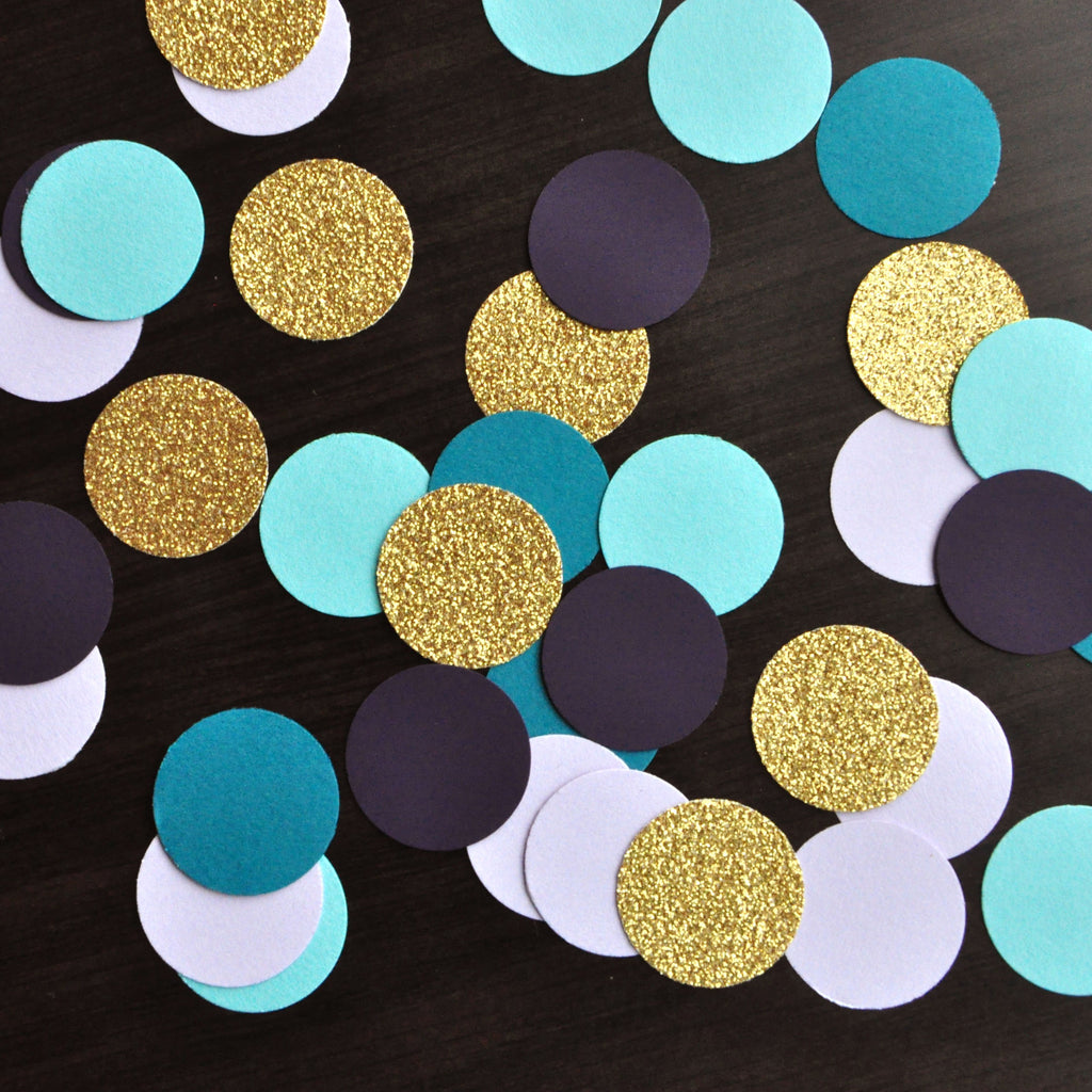 "Mermaid Colors Table Confetti 1"". 50CT. Handcrafted in 1-3 Business Days. Under the Sea Party Decor."