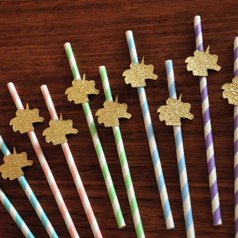 Unicorn Birthday Party Supplies. Unicorn Straws. Handcrafted in 1-3 Business Days. Unicorn Baby Shower Party Supplies. 10CT.
