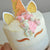 Unicorn Cake Topper. Unicorn Horn, Ears, and Eyelash Set. Handcrafted in 1-3 Business Days. Unicorn Party Decor. *Cake NOT included*