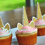 Unicorn Cupcake Toppers. Unicorn Birthday. Handcrafted in 1-3 Business Days. Unicorn Party Supplies. Unicorn Horn. 12CT.