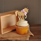 Unicorn Party Decorations. Ships in 1-3 Business Days. Pastel Party Decor. Pink and Gold Unicorn Cupcake Toppers 12CT.
