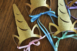 Unicorn Headband. Unicorn Crown Horn. Unicorn Party Favors for Rainbow Party. Set of 5 or More.