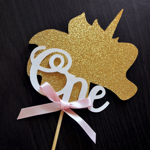 One Unicorn Cake Topper. Unicorn Smash Cake Topper. 1st Birthday Unicorn Decorations.