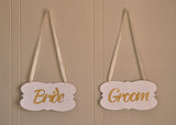 Wedding Chair Sign. Ships in 1-3 business days. Bride and Groom Sign. Wedding Reception Signs.