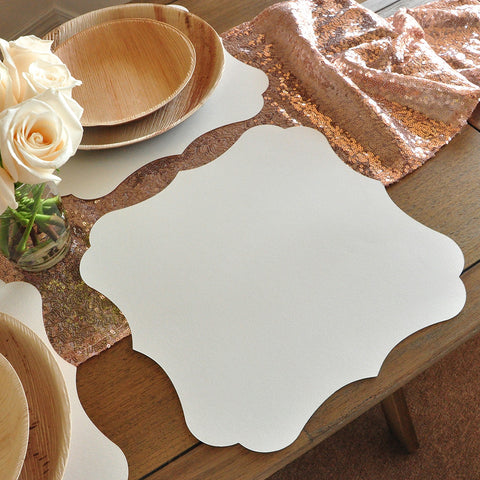 Wedding Chargers 10CT. Ships in 1-3 Business Days. Placemats for Round Table. Paper Placemats.