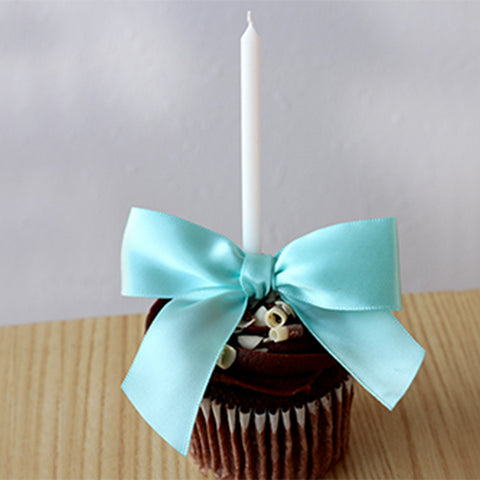 Under the Sea Party.  Ships in 1-3 Business Days.  Birthday Candles with Aqua Bows.