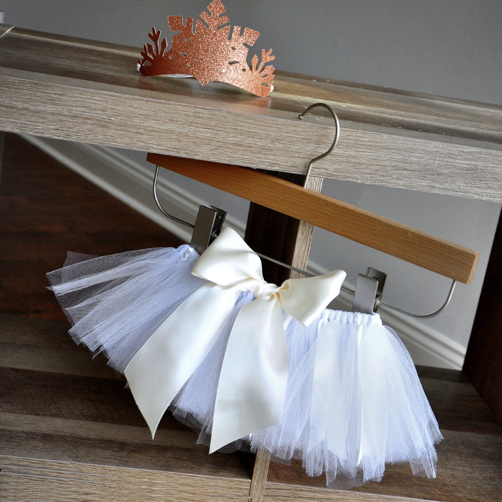 Winter Onederland 1st Birthday Girl. Made in 1-3 Business Days. White Tutu and Snowflake Crown Combo. Rose Gold Snowflake Crown and Tutu.