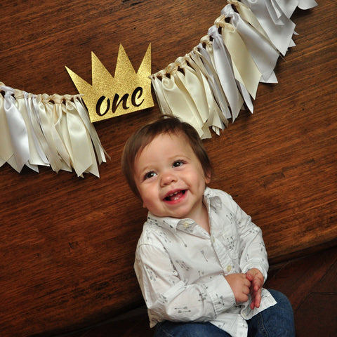 Wild One Backdrop. Wild One First Birthday Banner. Wild One Banner with Ribbons. Where the Wild Things Are Party Supplies.