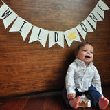 Wild One Banner. Wild One First Birthday Banner. Handcrafted in 1-3 Business Days. Wild One Party Decor. Where the Wild Things Are Party Supplies.