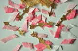 Wild One Birthday Girl Confetti. Handcrafted in 1-3 Business Days. Tribal Party Decor. Pink and Gold First Birthday. Arrow Confetti.
