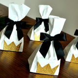 Wild One Favors Idea. Handcrafted in 1-3 Business Days.  Mini Party Favor Bags with Bows 10CT. Young Wild and Three Party Crown Bags. W36MFB.