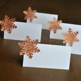 Snowflake Place Cards (QTY. 10). Ships in 1-3 Business Days. Winter Wonderland Party. Winter Party Food Tents. Snowflake Food Tents.